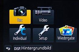 Panasonic Lumix DMC-G6 – Menüauswahl [Foto: Martin Vieten]