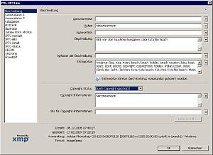 Mit dem Dialogfeld Dateiinformationen schreiben Sie in Photoshop, ImageReady und Bridge umfassende IPTC-Informationen.[Foto: Heico Neumeyer]