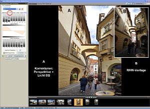 Bearbeitung einer RAW-Datei (Montage) [Foto: Dr. Bernd Schäbler]