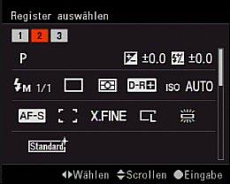Sony Alpha 700 Benutzerspeicher [Foto: MediaNord]