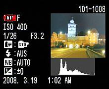 Fujifilm FinePix S100FS Wiedergabemodus Detailinformation [Foto: MediaNord]