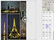 In einer der drei Druckfunktionen zieht man eine bestimmte Anzahl von Fotos mit der Maus in vorgefertigte Layouts [Foto: PhotoWorld]
