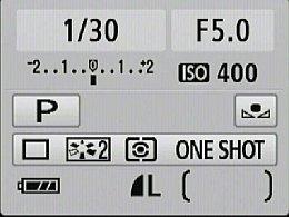 Canon EOS 450D Infobildschirm [Foto: MediaNord]