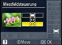 Nikon D60 Messfeldsteuerung [Foto: MediaNord]