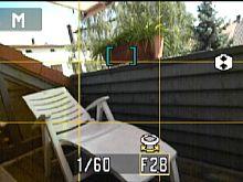 Nikon Coolpix P80: Aufnahmemodus mit Gitternetz [Foto: Yvan Boeres]