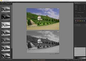 Plugindialog mit Stilbrowser links und vorher/nachher-Bild [Foto: MediaNord]