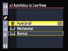 Nikon D90 – LiveView-Einstellungen [Foto: Yvan Boeres]