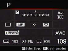 Sony Alpha 900 – Infobildschirm [Foto: MediaNord]