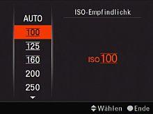 Sony Alpha 900 – Empfindlichkeitseinstellung [Foto: MediaNord]
