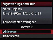 Canon EOS 50D – Vignettierungskorrektur [Foto: Yvan Boeres]