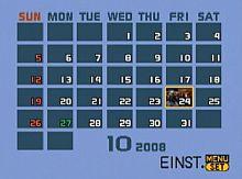 Panasonic Lumix DMC-LX3 – Kalenderansicht der Wiedergabe [Foto: MediaNord]