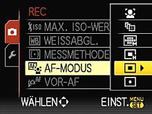 Panasonic Lumix DMC-FZ28 – AF-Modi [Foto: Yvan Boeres]