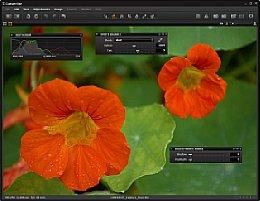 Zweiter Monitor mit Viewer-Fenster und frei platzierten Werkzeugen [Foto: Dr. Thomas Hafen]