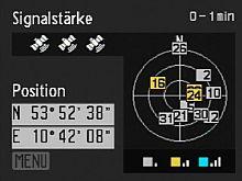Nikon Coolpix P6000 – GPS-Status [Foto:MediaNord]