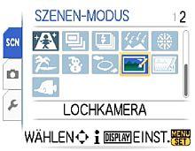 Panasonic Lumix DMC-FX37 – Motivprogrammauswahl [Foto: Yvan Boeres]