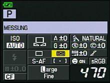Olympus E-30 – Infobildschirm  [Foto:MediaNord]