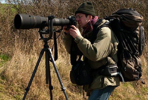 Feisol UA-180 Carbon Fiber mit Nikon D2x, Sigma 300-800mm F5,6 EX DG APO HSM IF auf Stativ Manfrotto MA 055CXPRO3 [Foto: MediaNord]