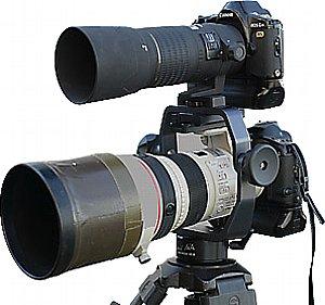 Dietmar Nill Stativkopf mit zwei Kameras [Foto: Dietmar Nill]