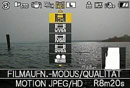 Panasonic Lumix DMC-GH1 – Q-Menü [Foto: MediaNord]