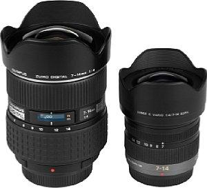 Olympus Zuiko Digital 7-14mm 1:4 und Panasonic Lumix G Vario 1:4/7-14mm ASPH [Foto: MediaNord]
