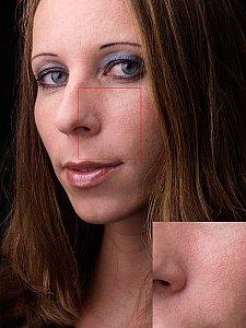 Hautweichzeichnung durch Gradationsänderung [Foto: Harm-Diercks Gronewold]