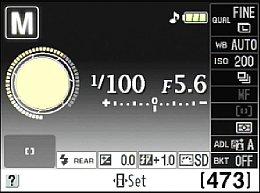 Nikon D5000 – Infobildschirm [Foto: MediaNord]