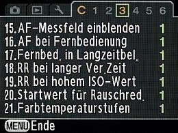 Pentax K-7 – Benutzermenü 3 [Foto: MediaNord]