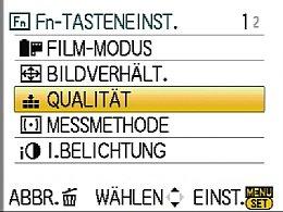 Panasonic Lumix DMC-GF1 – Einstellung der Fn-Taste [Foto: MediaNord]