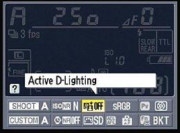 Nikon D300S – Parametereinstellung auf Infobildschirm [Foto: MediaNord]