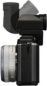 Olympus Pen E-P2 mit elektronischem Sucher VF-2 [Foto: Olympus]
