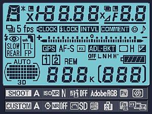 Nikon D3S LCD Info [Foto: Nikon]