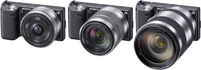 Sony NEX-5 Objektivübersicht [Foto: Sony]