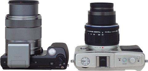 Vergleich Sony NEX-5 mit Olympus Pen E-P1 [Foto: MediaNord]