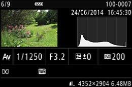 Canon PowerShot G1X Mark II – Wiedergabe-Bildinfo [Foto: Martin Vieten]