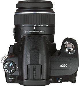 testbericht sony alpha 290 spiegelreflexkamera systemkamera. Black Bedroom Furniture Sets. Home Design Ideas