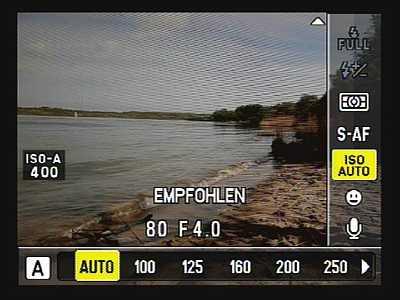 Olympus E-5 – Schnellmenü [Foto: MediaNord]