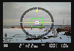 Nikon D7000 – Wasserwaage bzw. künstlicher Horizont [Foto: MediaNord]