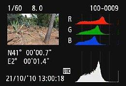 Canon EOS 60D – Wiedergabe mit Detailansicht [Foto: MediaNord]