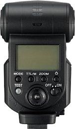 Rückansicht des Sony HVL-F43AM [Foto: Sony]