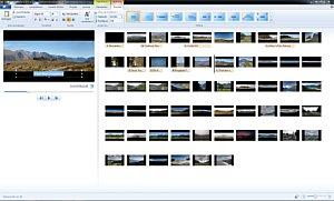 Windows Movie Maker 11 – Arbeitsfläche [Foto: MediaNord]