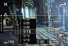 Nikon Coolpix P300 – Belichtungszeiteinstellung [Foto: MediaNord]