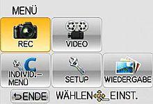 Panasonic Lumix DMC-G3 – Menü [Foto: MediaNord]