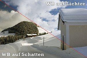 """Zweimal ein """"korrekter"""" Weißabgleich – einmal auf Schatten- bzw. Lichterpartien. [Foto: Martin Vieten]"""