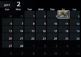 Nikon 1 J1 – Wiedergabe-Kalenderansicht [Foto: MediaNord]