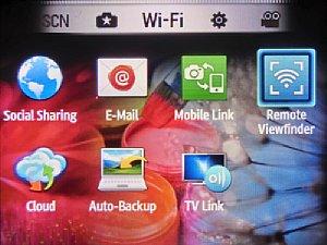WLAN-Auswahlbildschirm der Samsung WB150F [Foto: MediaNord]
