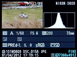 Nikon D800 Screenshot Bildwiedergabe [Foto: MediaNord]
