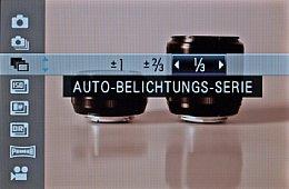 Fujifilm X-Pro1 – Drive-Menü [Foto: MediaNord]