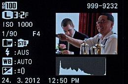 Fujifilm X-Pro1 – Bildwiedergabe mit Histogramm und Aufnahmeinfos [Foto: MediaNord]