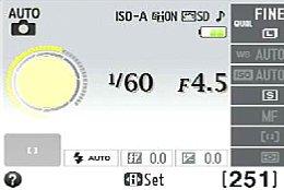 Nikon D3200 – Infobildschirm [Foto: MediaNord]