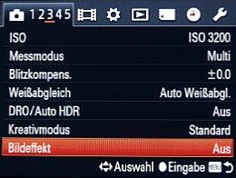 Sony Cyber-shot DSC-RX100 – Menü [Foto: MediaNord]